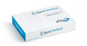 OncoSTRAT&GO testing kit box